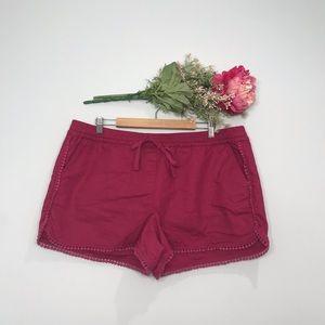 Loft | Boho Festival Pom Pom Linen Running Shorts